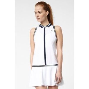 Lacoste Sleeveless Technical Pique Tennis Dress XS